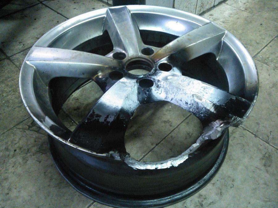 Как выпрямить диск колеса своими руками 67
